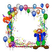 carnival party frame with balloons