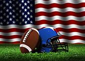 American Football with Flag