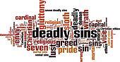 Deadly sins word cloud