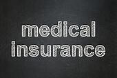Insurance concept: Medical Insurance on chalkboard background