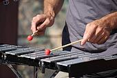 Man playing xylophone