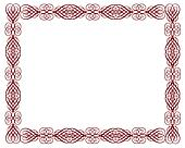 Ornamental Certificate Border Red