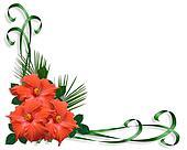 Hibiscus tropical Flowers border