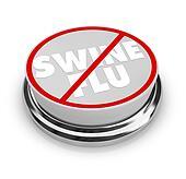 No Swine Flu - Button