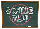 No Swine Flu - Chalkboard
