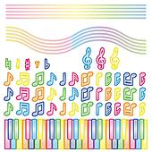 note and piano(colorful)