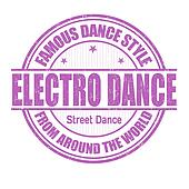 Electro Dance stamp
