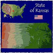 Kansas, USA hi res aerial