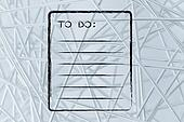 To do list memo pad, add your text