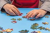 child and puzzles