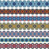 Set of seamless ornamental borders