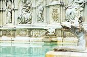 Fountain Gaia in  Siena closeup