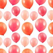 Pink balloon composition
