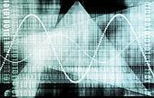 Tech Futuristic Business Chart