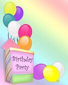 Birthday Party Invitation background