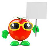 3d Tomato placard