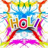 Beautiful grunge colorful Indian festival Happy Holi colors splash.background