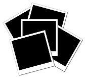 isolated black polaroid frames