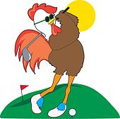 Rooster Golfer