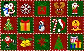 christmas symbols collage