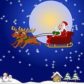santa and his sleigh