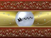 santa´s sleigh background