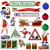 christmas symbols isolated