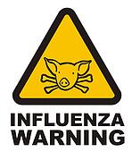 Warnig swine flu sign