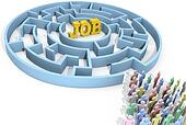 Job search people seek solution maze