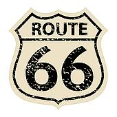 Vintage route 66 sign