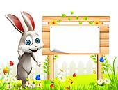 Bunny is saying hi with sign