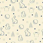 Seamless baby background.