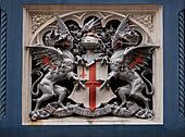Heraldic symbol on Tower Bridge, London