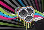 colourful music design