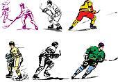 Ice hockey illustrations
