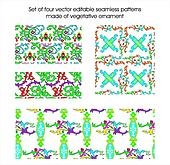 Seamless vegetative patterns