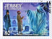 JERSEY - 2012: shows illustrations from A Christmas Carol, 200th