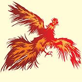 Flying Red Rooster