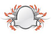 Frame with Floral Elements