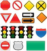 Traffic an Map Signs and Symbols