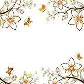 Flower tree frame