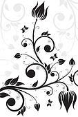 Flower scroll