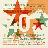 40th anniversary happy birthday card from the world
