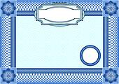 Business background, Guilloche ornamental Element for Certificate, Money, Diploma, Voucher, decorative horizontal frame