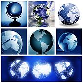 Collage with globes