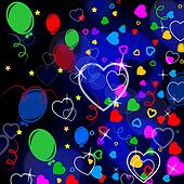 Background Heart Means Valentine Day And Backgrounds