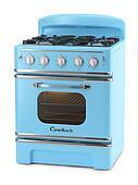 Blue retro stove
