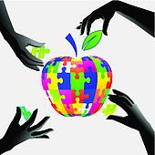 apple in hands a puzzle