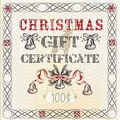 Christmas gift certificate in vinta