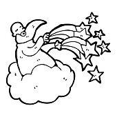 cartoon god on cloud